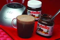 Hazelnut Hot Chocolate with Nutella