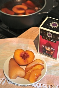 Chai Tea Poached Fruit