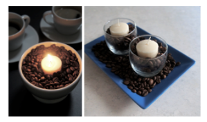Coffee-candle-centerpiece