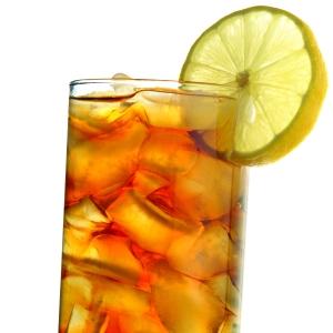 iced tea isolated on white closeup
