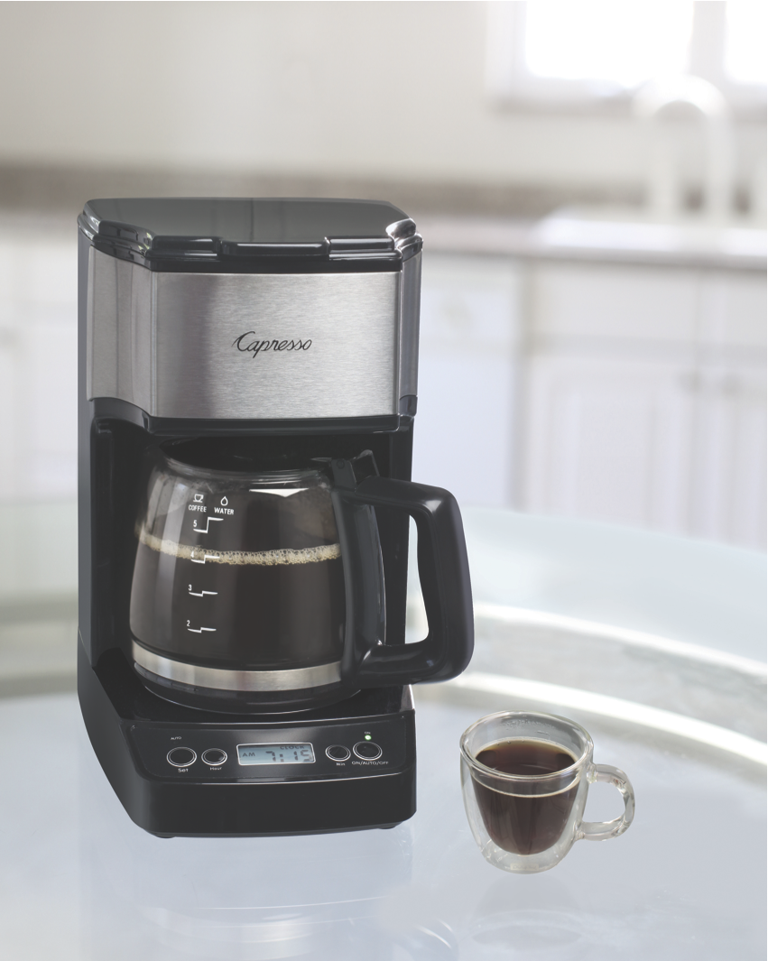 Drip Coffee Maker Hot Water : A Mini Model for Big Coffee Taste: New Capresso Mini Drip 5-Cup Capresso